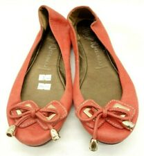 Jeffrey Campbell Ibiza Last Red Leather Bow Casual Flats Shoes Women's 11