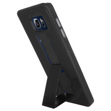 AMZER BLACK SNAP ON HARD SHELL CASE KICKSTAND COVER FOR SAMSUNG GALAXY NOTE 5