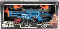 NEW Disney Parks Star Wars Blue BOWCASTER Chewbacca Blaster Toy Dart Gun Sounds