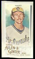 2020 Topps Allen and Ginter A&G Back Mini #102 Robin Yount - Milwaukee Brewers