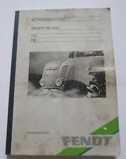 Fendt rimorchiatori preferito 714 + 716 vario manuale di istruzioni