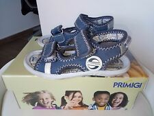sandali estivi bimbo bambino primigi funky misura 24 colori blu e bianco