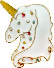 47127 Sprinkle Ice Cream Unicorn Fantasy 1980s Enamel Pin Badge Button Lapel