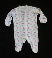Baby clothes GIRL premature/tiny<7.5lbs/3.4kg hearts/dots white+pastel babygrow