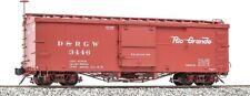 Accucraft / Ams Am2201-34 Box Car D&Rgw #3446 Narrow Gauge 1:20.3 Scale Nib