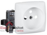 Prise de courant 2P + T appareillage saillie composable - blanc Legrand 86127