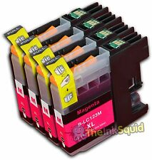 4 Magenta LC123 Ink Cartridge For Brother DCP752DW DCPJ4110DW MFCJ4410DW non-OEM