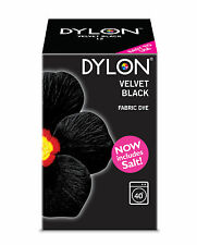 Nuevo 350g Terciopelo Negro Y Sal Dylon Color Tela ropa de lavado a máquina Dye