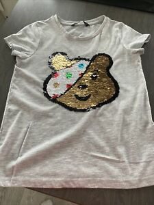pudsey bear Sequin 2way T Shirt Age 6/7