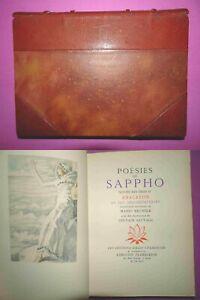 Poésies de Sappho – Odes d'Anacréon – ex num 1941 Chamontin