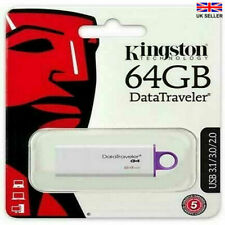 KINGSTON 64GB USB Flash Drive de última 3.1/3.0/2.0 G4 DataTraveler