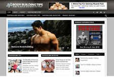 Body Building Responsive Niche Website Business For Sale Multi Earns Affiliate