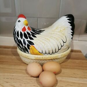 Mason Cash Ceramic Hen On Nest Egg Holder Chicken