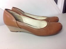 253d6ffa512 Authentic Geox Respira Low Wedge Shoes In Tan Leather. Great Cond. UK 5