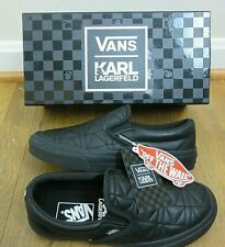 Vans x Karl Lagerfeld Womens Classic Slip on K Quilted shoes Black Size 6  NIB 036617add651a