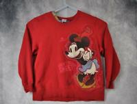 "Disney Womens Minnie Mouse Sweatshirt 2XL Red ""Aren't you sweet!"""