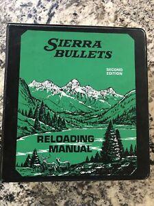 Sierra Bullets Reloading Manual Binder 1978 Reloading Handbook 2nd Edition