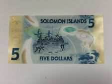 Solomon Islands 5 Dollars ND(2019) P New Uncirculated Polymer Banknote - Turtles