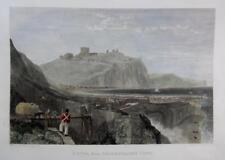 DOVER  KENT  BY  J M W TURNER  GENUINE ANTIQUE ENGRAVING  HAND COLOUR c1826