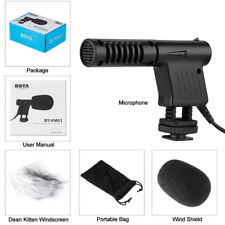 BOYA BY-VM01 Microphone Directional MIC For Canon Rebel T5i T4i T3i T6s T6i  80D