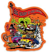 Rat Fink Family Custom MAGNET Vintage Old School Classic V8 Old School Dragster