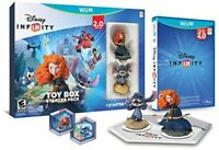 NEW Wii U Disney Infinity 2.0 Toy Box Starter Pack Kids Game Figures Base Discs