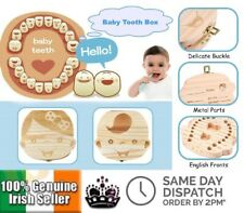 Wooden Milk Teeth Storage Box Tooth Fairy Organizer Tooth Saver Gift Boy Girl
