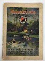 Northern Pacific Railroad / Railway - Minnesota Lakes Brochure Map Early 1900's