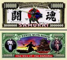 Les SAMOURAÏ - BILLET MILLION DOLLAR US! Samurai Collection Arts martiaux Katana