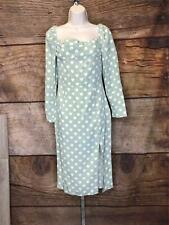 PrettyLittleThing Women's Size 6 Sage Green Heart Print Square Neck Long Sleeve