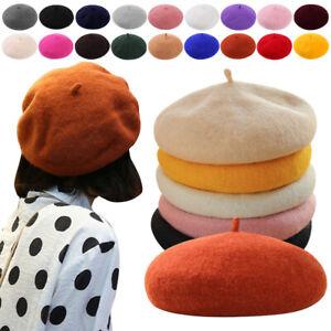 Cool Ladies Women Artist Beanie Warm Faux Wool Winter Beret French Hat Ski Cap