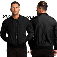NEW Mens Harrington Jacket by Brave Soul Biker Bomber Thin Lightweight MA1 CoatS