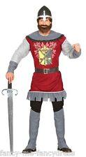 Hommes Brave Chevalier Médiéval Historique Croisé Costume Déguisement Grand