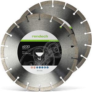 2x Diamanttrennscheibe 230 mm Beton Granit Stein - Diamant Trennscheibe 230 mm