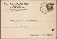 AA6631 Tessuti Ditta Gallipacciorini - Busto Arsizio 1943 - Cartolina postale