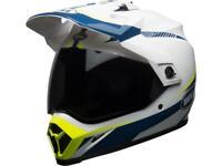 Casque moto route intégral BELL MX-9 Adventure mips torch jaune / bleu / blanc