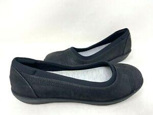 Clarks Women's Cloudsteppers Ayla Low Slip On Comfort Flats Blk Size:6.5 147M az