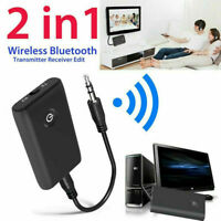 2In1 Bluetooth Sender Empfänger A2DP 3.5mm Aux Audio Adapter Transmitter S5R4