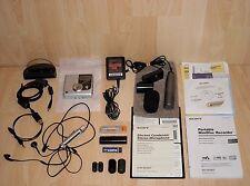 Sony MZ-NH900 Hi-MD Minidisc Recorder Walkman + Accessories + Sony ECM-MS907 Mic