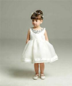 UK Infant Toddler Baby Girls Christening Wedding bridesmaid Party Formal Dress