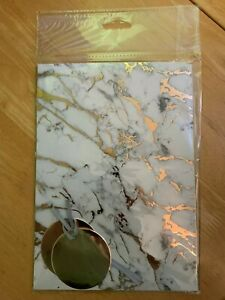 Marble with golden veins GIFT WRAP SET 2 SHEETS PAPER + 2 circular TAGS