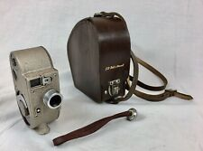 Vintage G.B Bell & Howell, 605 Double Run 8mm Clockwork Cine Camera & Case