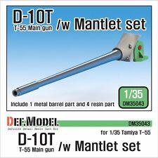 DEF. modello, DM35043, D-10T T-55 PISTOLA principale con mantlet Set, 1:35