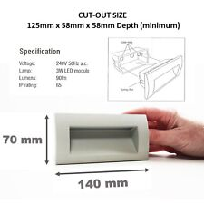 Modern Outdoor Die Cast Alloy Garden Recessed Wall 3w Cool White LED Brick Light