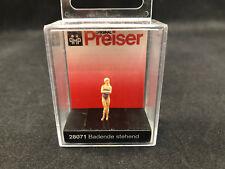Preiser Female Bather, Standing 1:87 Ho Scale Figure 28071 Nib Free Shipping
