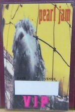 "Pearl Jam Laminated Backstage Pass ""V.I.P."" Eddie Vedder - Rare"