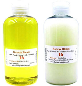 B16 Treatment Oil & Shampoo and Body wash Pack for Scabies 1 each x 250ml