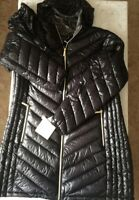 Michael Kors Women's Hooded  Long  Zipped  Black Jacket  (Size 18 )