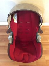 Maxi Cosi 35 Baby Car Seat Cover Cushion Canopy Replacement Part Red Beige