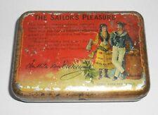 Schöne Tabak Blechdose The Sailors Pleasure rauchender Matrose vor 1945 !